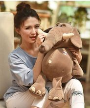 creative new plush elephant toy cute elephant pillow gift about 60cm