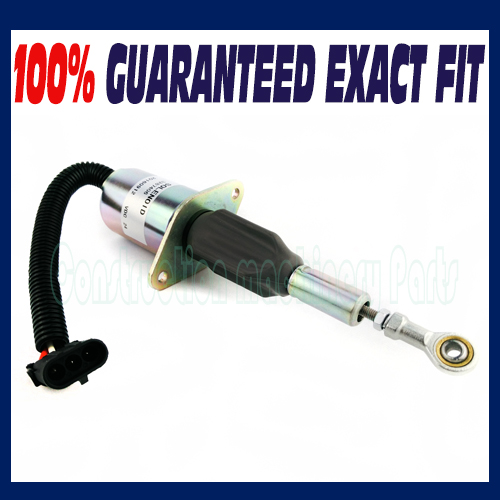 Fuel Shut Off Solenoid Valve 3287406 24V for Cummins Heavy Equipment Excavator fuel shut off solenoid valve coil 3964624 fits excavator engine