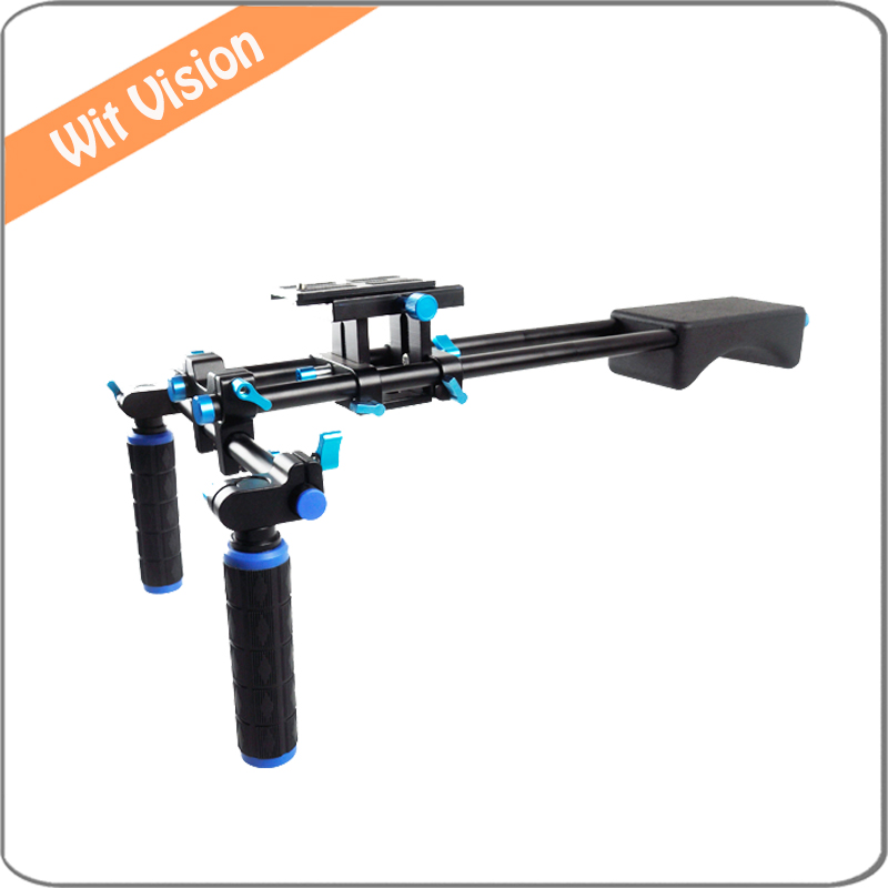 DSLR Rig Shoulder Mount Rig Filming Photography Accessories For Canon Sony Nikon SLR Video Camera DV Camcorder professional dv camera crane jib 3m 6m 19 ft square for video camera filming with 2 axis motorized head