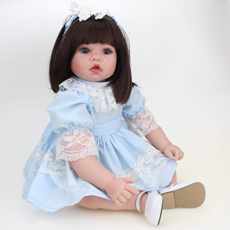 20inch Handmade Real Baby Dolls Soft Body Lifelike Girls Princess Toys Dolls with Clothes for Kids Toys Christmas Gift