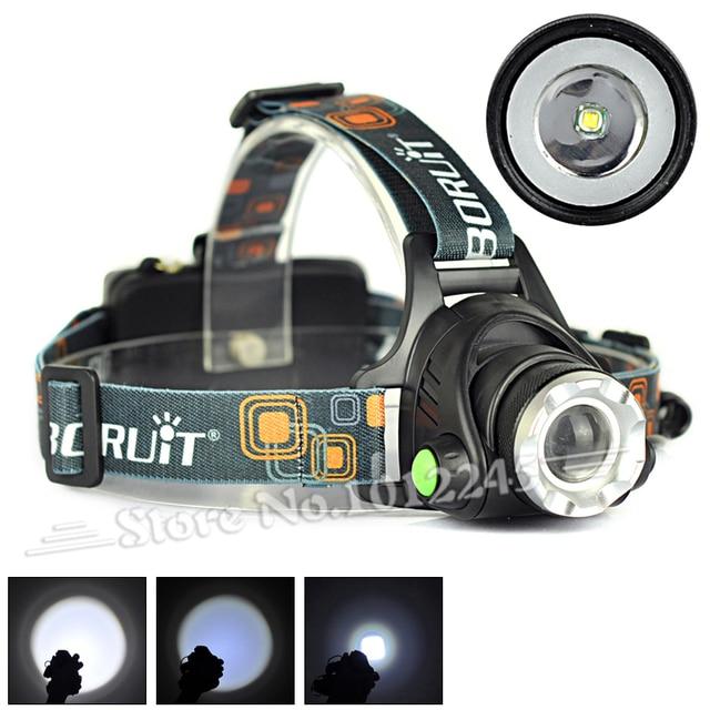 Boruit 2000 Lumen XM-L T6 LED Headlamp Zoomable Headlight LED Head Light Lamp Flashlight for Cycling Camping
