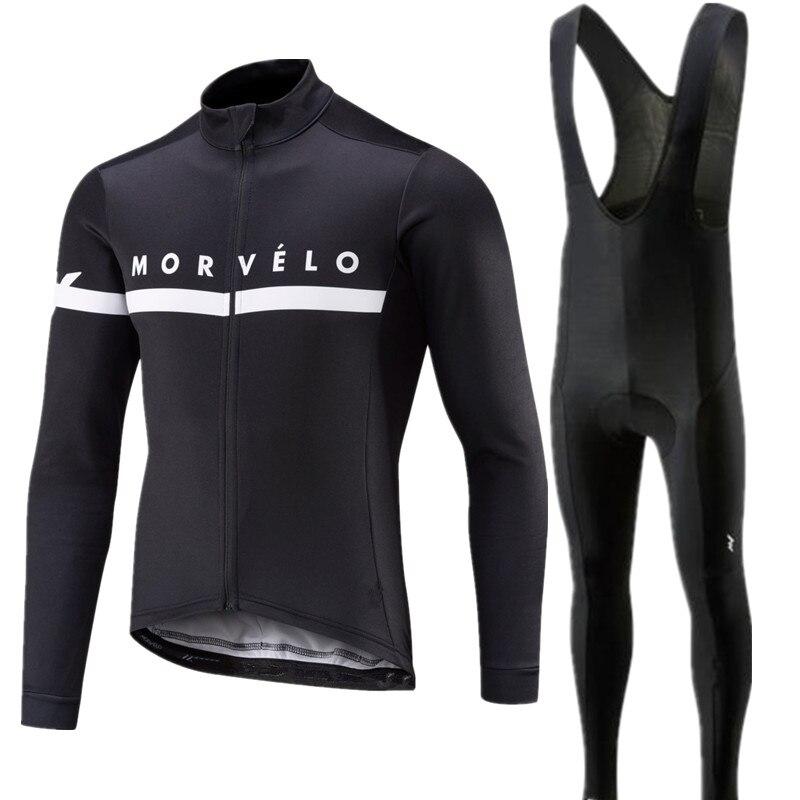 2018 Pro team Morvelo long sleeve Cycling Jersey pants Set Cycling Clothing Road Bike Jerseys Bicycle
