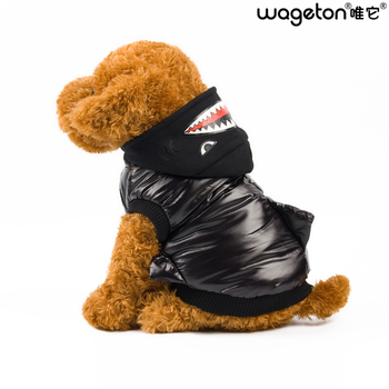New Hot WAGETON Fashion Dog Clothes SHARK Warm Coat  Wholesale And Retail Pet Puppy Cat Warm Apparel -Halloween Costume 1