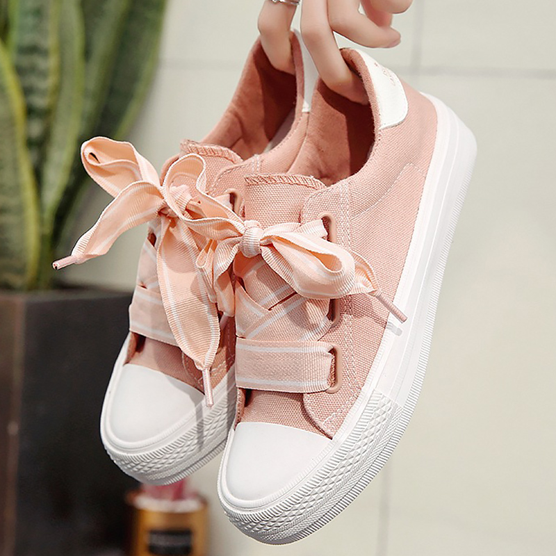 LAKESHI Fashion Women Canvas Shoes Summer Women Vulcanize Shoes Casual Women Shoes 2018 fashion sneakers Shoes Female