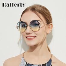 Ralferty 2018 Round Sunglasses Women Designer Rimless Crystal Sun Glasses UV400 Female lunette de soleil gunes gozlugu W18905