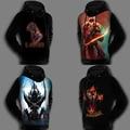 12 Styles Winter Super Warm Fleece Lined 3D Print Dota2 Sweatshirt Coat Pullover Jacket Dota 2 Hoodie For Men