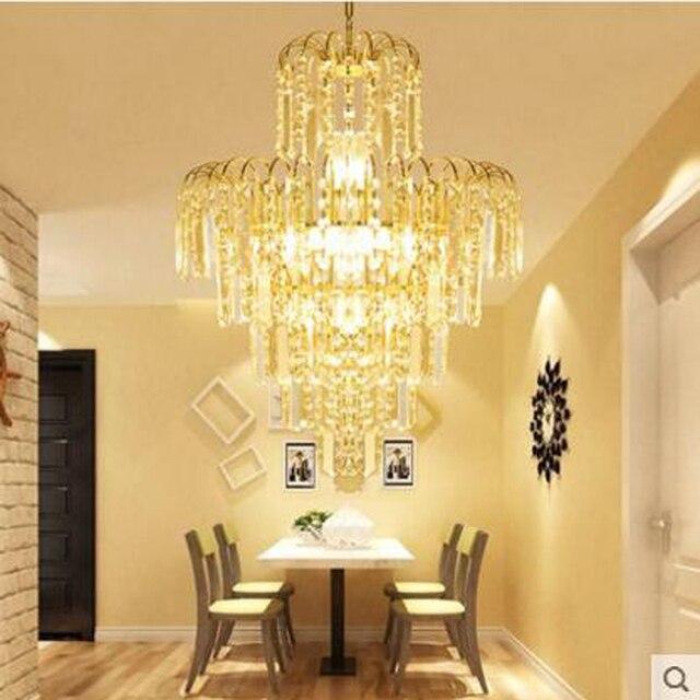 Modern golden chandelier round living room lamp personalized dining chandelier restaurant lamps bedroom stairs lighting fixture