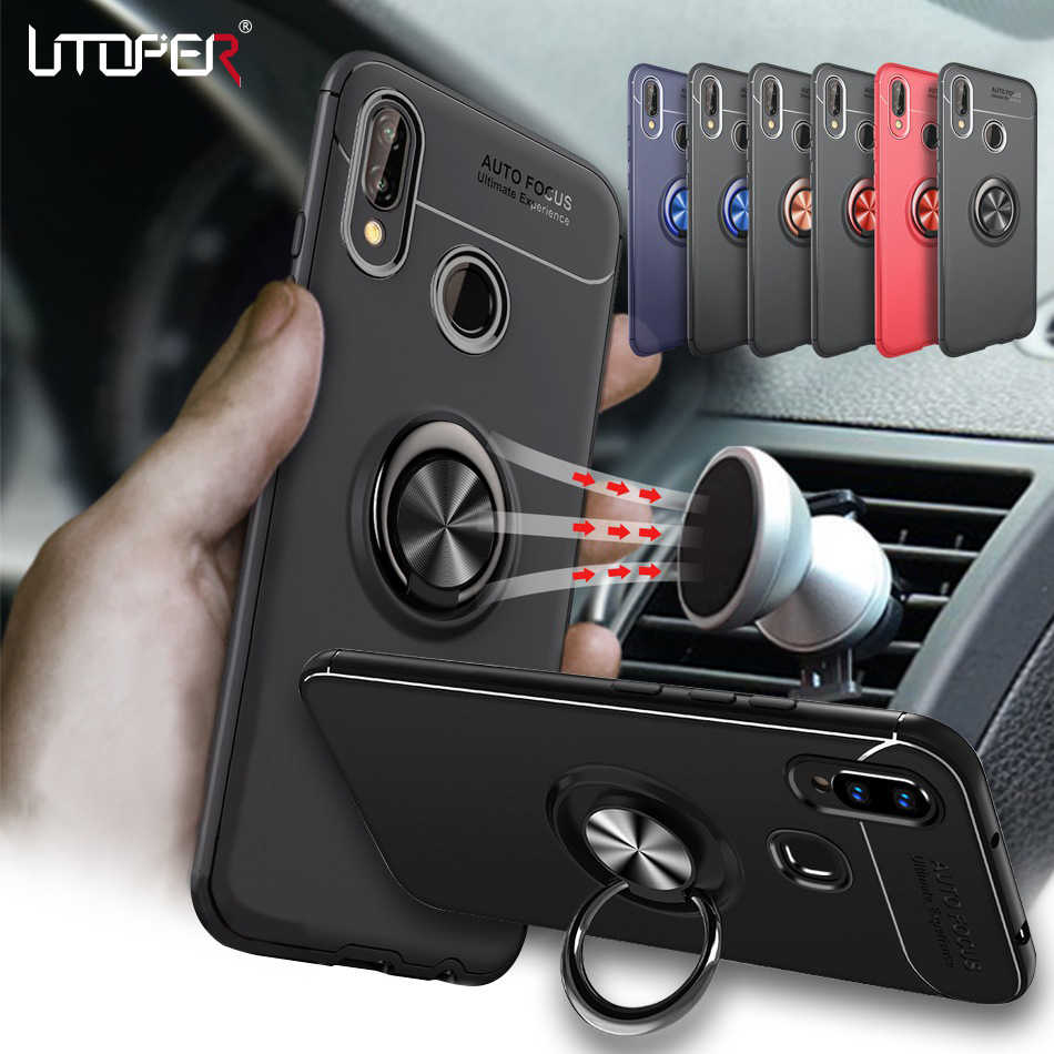 3D Ring Case For Huawei P20 Lite Case Car Magnetic Cover For