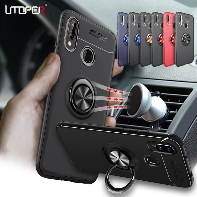 3D Ring Case For Huawei P20 Lite Case Car Magnetic Cover For...