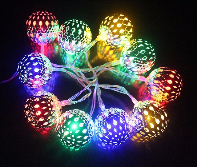 copper pendant LED string lights best outdoor string lighting color wire fairy lights 1.5m