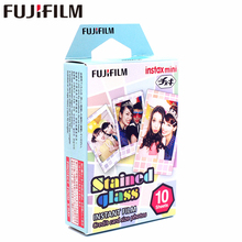 лучшая цена New Fujifilm 10 sheets Instax Mini Stained glass Instant Film photo paper for Instax Mini 8 7s 25 50s 90 9 SP-1 SP-2 Camera
