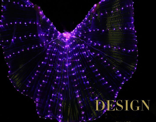 Glow In The Dark Light Up Angle LED Isis Wings Dance Cosplay Performance  Optic Costume (