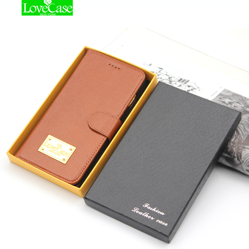 LoveCase retro luxury 100% genuine real leather case for iphone X 10 wallet stand flip vintage phone bags for iphoneX 8Plus case