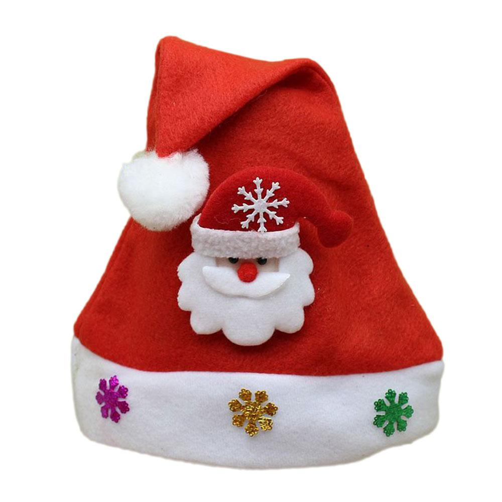 New Cute Kids Hats Children Christmas Soft Hat Traditional Christmas Santa Claus Reindeer Party Favors Decoration Baby Hat Gift inflatable cartoon customized advertising giant christmas inflatable santa claus for christmas outdoor decoration