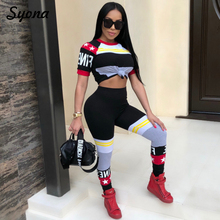 2018 Casual Sexy 2 TWO PIECE SET Track Suit Tracksuit Women Crop Top Trendy Pants Colorful Sweatsuit Print Plus Size XXXL Summer