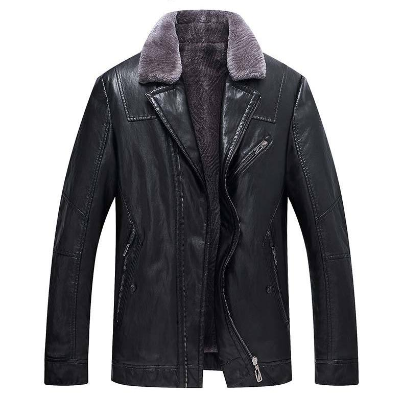 2018 New Mens Leather Jackets Mens Fur And Fur In A Winter Coat With Mens Fashionable Leather Jackets
