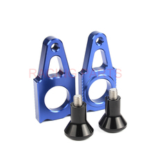 Pair CNC Rear axle Slider blocks Spindle  Chain Adjuster Falling Protection cap for YZ250F YZ450F YZ250X YZ250FX WR250F dirtbike