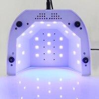 Lke Сушилка для ногтей машина 48 Вт УФ-лампы 10 s 30 s 60 s 365 + 405nm LED белый свет для Лаки для ногтей Гели для ногтей Дизайн ногтей Инструменты