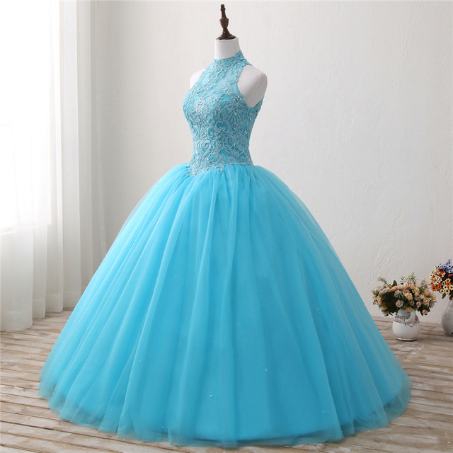 ba2592330 Bealegantom 2018 Quinceanera Dresses Ball Gown Crystals Embroidery Lace Up  Vestido De Debutante Sweet 16 Party