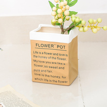 Plants pots groot planter Kraft paper container pot  for home planting pots garden colorful vase suitable for home or office