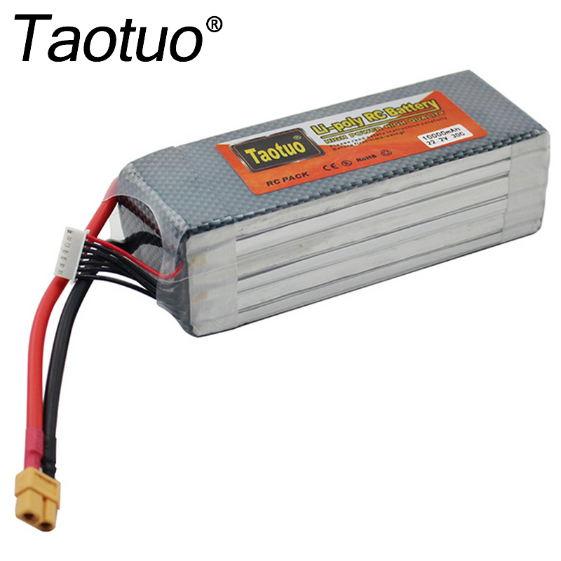 Taotuo Power Lipo Battery 22.2V 10000mAh 6S 30C XT60 For RC Car Airplane Helicopter Quadcopter Parts Drone Lithium Bateria for dji phantom s900 s1000 rc quadcopter battery 22 2v 10000mah 6s 30c xt60 plug li polymer lipo battery fpv parts bateria