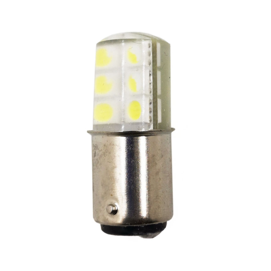 B15 LED Machine Alarm Lamp 24V 3W Signal Indicates Small Bulb Double Point Textile Indicator Lights White Red Yellow Green