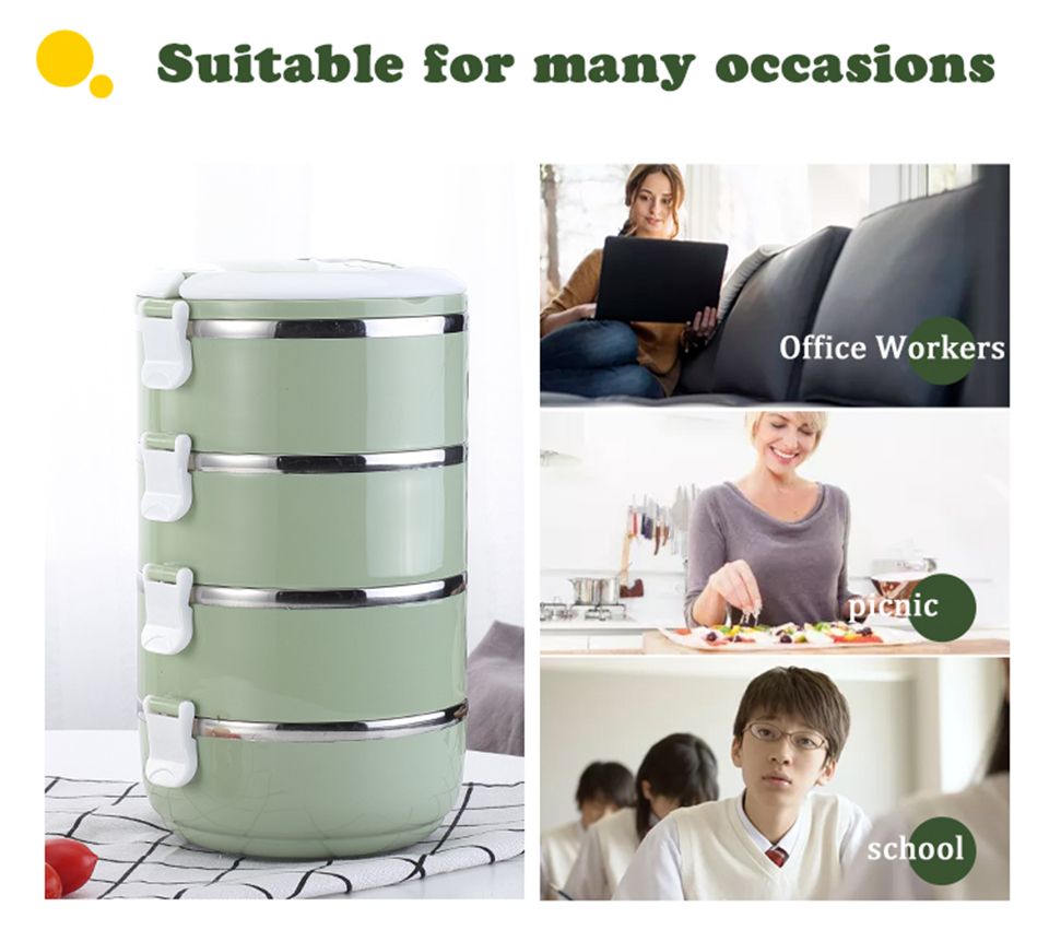 LIYIMENG 304 Stainless Steel Japanese Lunch Box Thermal For Food Portable LunchBox For Kids Picnic Office Workers School18