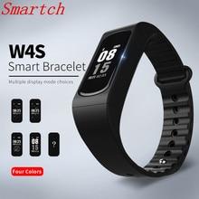 Smartch смарт-браслет W4S сердечного ритма Приборы для измерения артериального давления измерение Калорий, Шагомер Спорт браслет для IOS Android