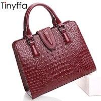Tinyffa Genuine Leather Bag Crocodile Designer Handbags Famous Brand Women Messenger Bags Shoulder Bag High Quality