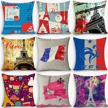 Cheap car seat linen throw pillow Nordic Vintage outdoor chair cushions home decor Paris pillow Anti-Decubitus MYJ-I5