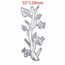 Branch Cutting Dies Stencil DIY Scrapbooking Embossing Album Paper Card Craft Metal Christmas