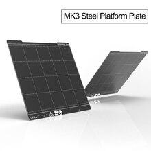 254*241 мм пружинная стальная листовая пластина на платформе+ MK3 Тепловая наклейка пей печать сборка 3d принтер части для I3 MK3 принтер горячей кровати