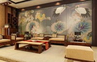 Chinese Style Factory Special Supply Large 3d Mural Wallpaper Wall Stickers Personalization Bedroom Customized Wallpaper Design