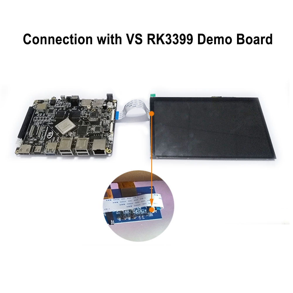 US $89 0 |7 inch LCD Module (Adaptation: VS RK3399 Development Board) ,  MIPI interface, 1024 x 600 resolution-in Demo Board Accessories from  Computer