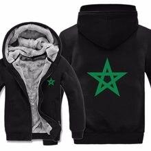 503e0f335b013 Invierno estilo Marruecos Sudadera con capucha hombres Casual Marruecos  forro caliente Mens Fleece sudadera chaqueta de
