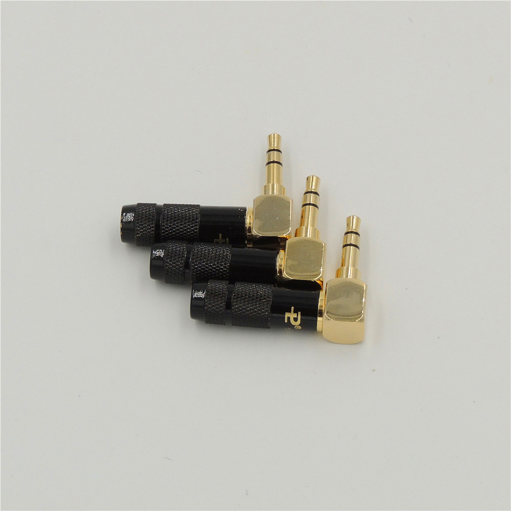 medium resolution of high quality copper stereo audio 3 5mm angle 90 degree male plug soldering repair headphone jack audio connectors 3 pole in connectors from lights