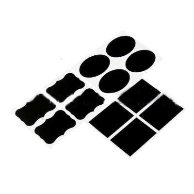 36 Pcs/set Papan Tulis Label dengan Putih Kapur Cair Bumbu Dapur Toples Organizer Label Dapat Ditulis Ulang Papan Tulis Pena Alat
