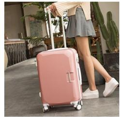 ABS + PC бренд для женщин 20 24 26 дюймов Дорожный чемодан-тележка посадочный кейс Складной футляр на колесах женские чемоданы на роликах