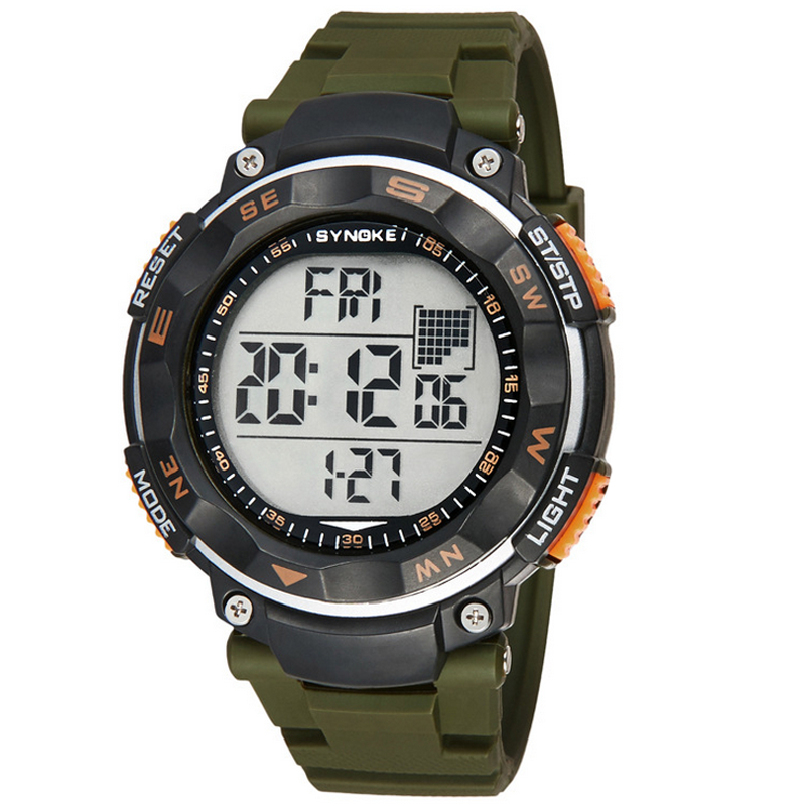 Attractive Army Green New Waterproof Digital LED Quartz Alarm Date Sports Wrist Watch 2017 Hot sale High Quality  SP22 hot horloge new desigh hot sale colorful boys girls students time electronic digital wrist sport watch 2017may10