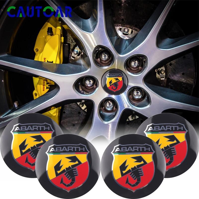 4pcs/Pack 56mm Abarth Scorpion Logo Car Emblem Wheel Center Hub Cap Auto Rim Badge Refit Decoration Cover Sticker Styling