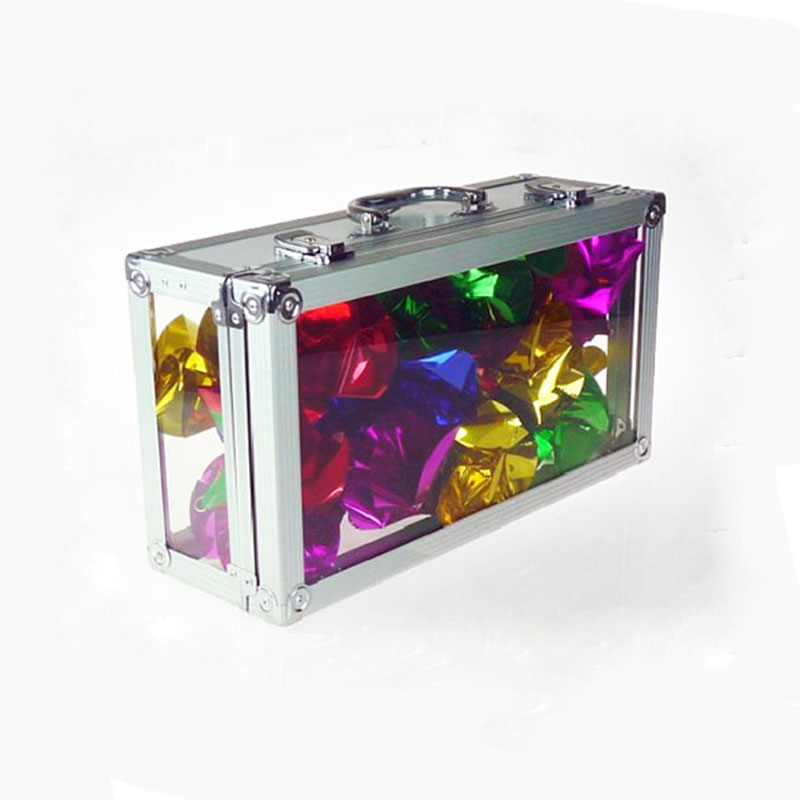 Glassy Briefcase Magic Tricks Fun Stage Empty Crystal Briefcase Appearing Bills Flowers Magia Illusions Gimmick Props Magicians