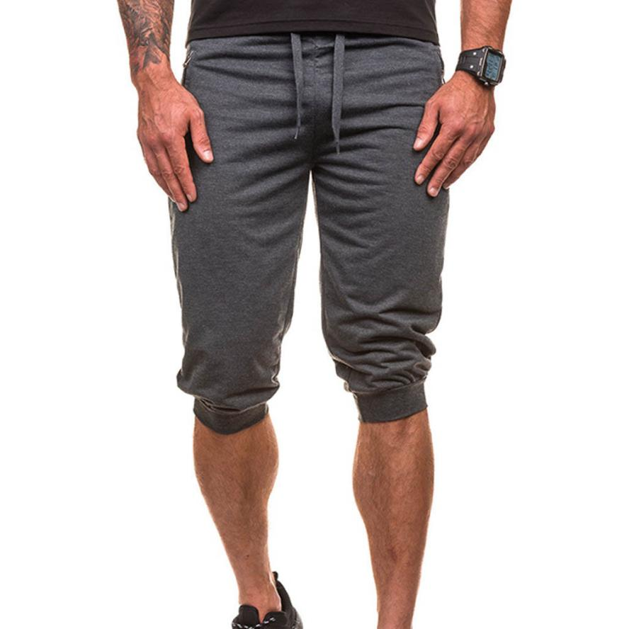 Hot summer New Fashion Men Sporting Beaching Shorts Trousers Cotton Bodybuilding Sweatpants Fitness Short Jogger Casual Gyms