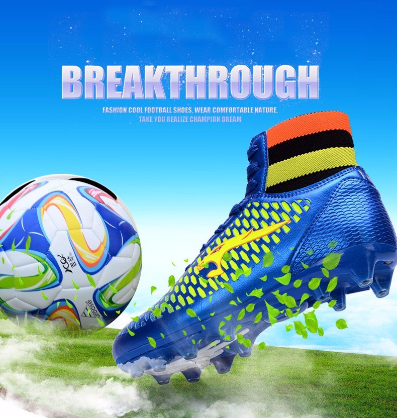 High Ankle Football Boots Kids Soccer Cleats Teenagers Outdoor AG Training Sneakers Botines Botas Futbol 2017 Superfly Original  1