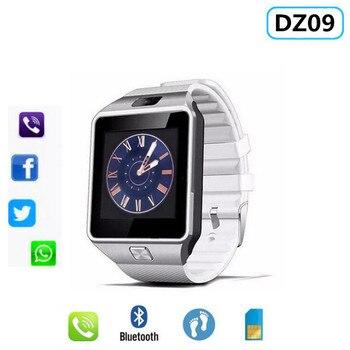 34300868020a Moda Bluetooth reloj inteligente DZ09 Smartwatch soporte tarjeta SIM TF  cámara para iPhone Samsung Huawei Xiaomi teléfono Android PK Y1 v8