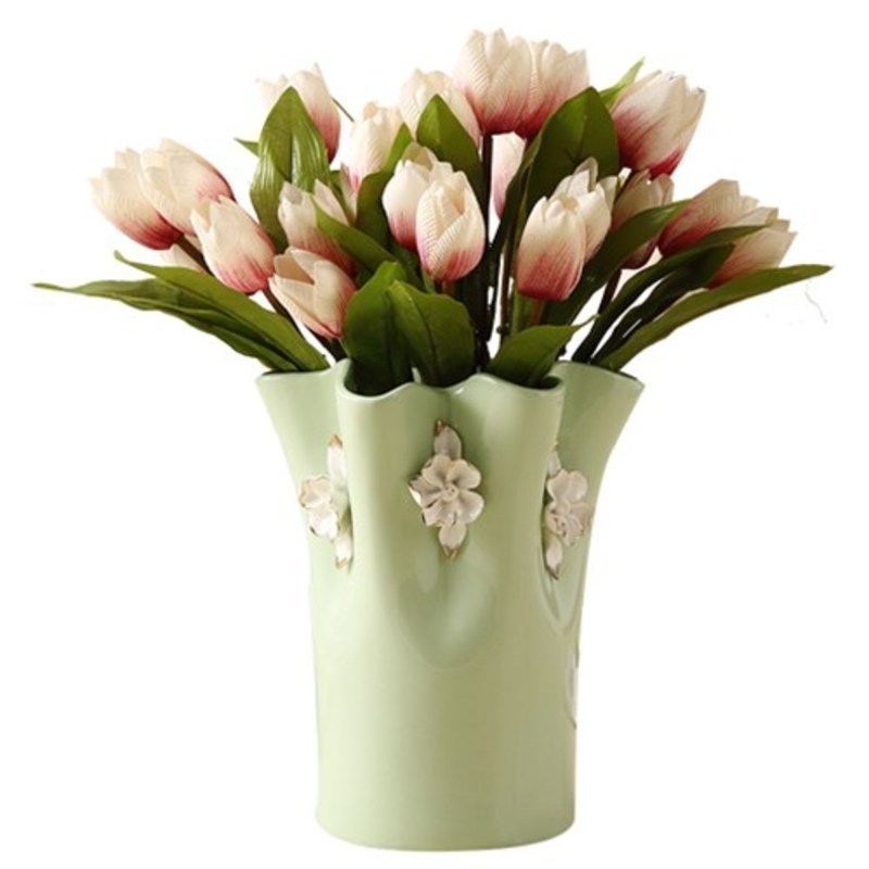 para casa wazony ozdobne for wedding ceramica decoration home vaso de flor jarrones decorativos moderno teraryum flower vase in Vases from Home Garden