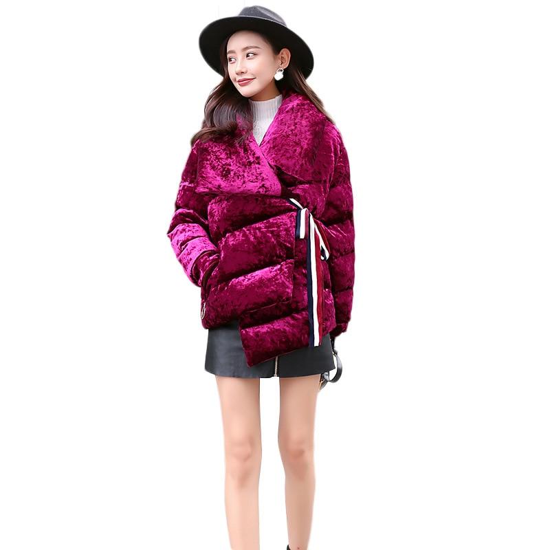 Vers Ceinture Vêtements Hiver Mode Pain 2018 Canne D'hiver Vestes De Manteau Court Femmes Service Le Coton Nouveau Bas fAxCw5q