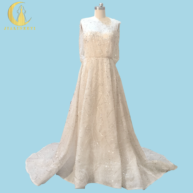Rhin réel échantillon photos Elie Saab nu à l'intérieur avec des perles de cristal de luxe de mode haut travail robe de mariée robes de mariée