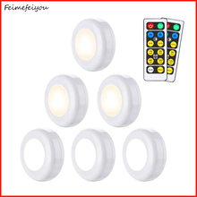 fill light white warm white led lamp 2 color night light closet decorative light with remote control for display cabinet