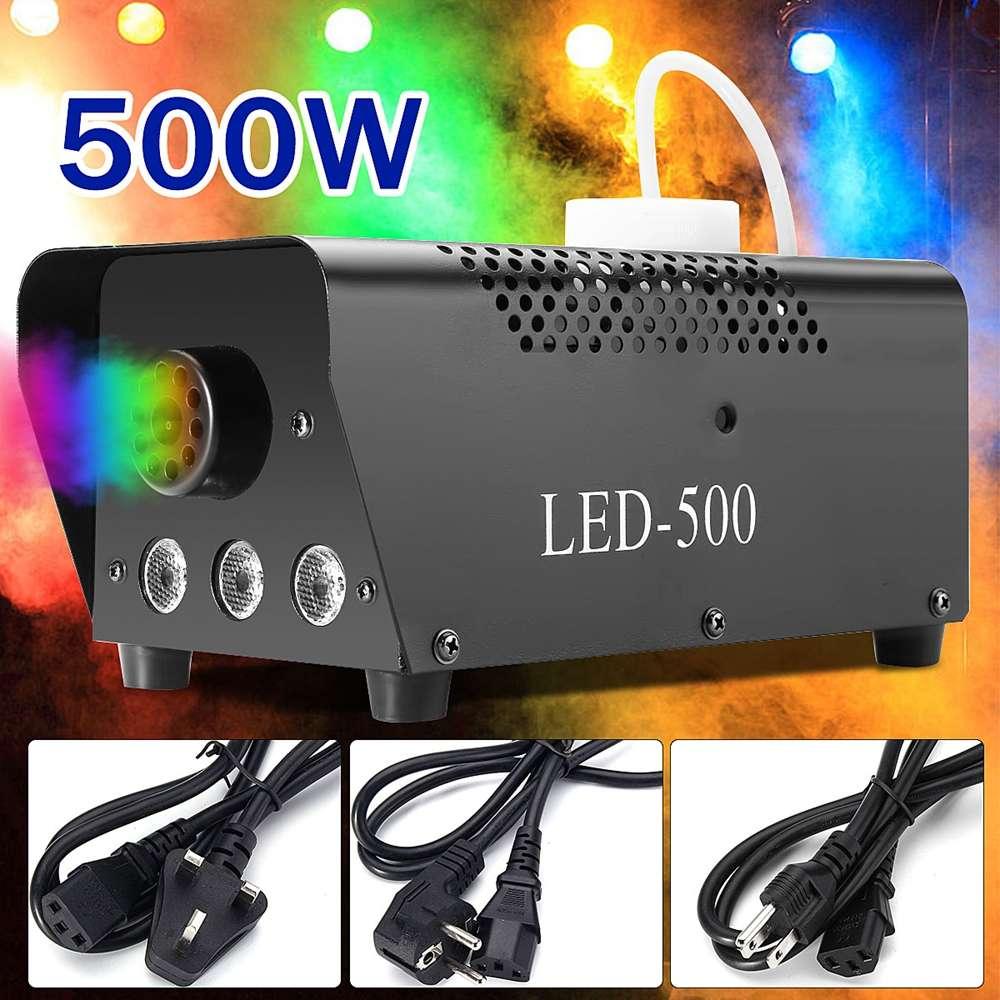 500W brouillard fumée Machine Disco lumière télécommande LED noël DJ fête scène lumière noël décoration RGB fumée projecteur