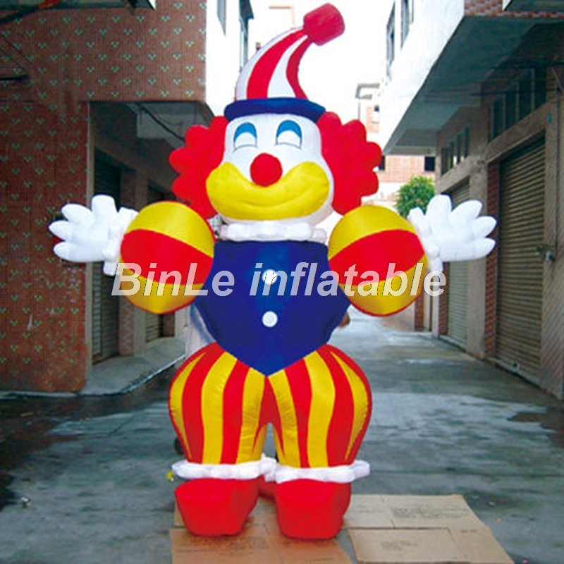 Customized 2.5m funny giant inflatable clown character air balloon joker mascot for party decoration